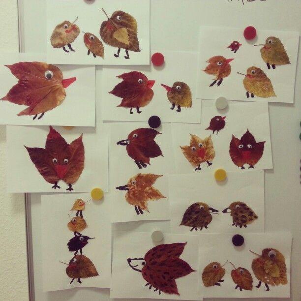 Herbst Blätter Tiere