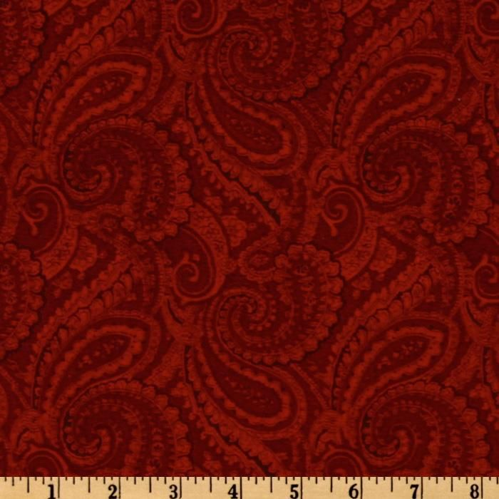 108 Complementary Quilt Backing Paisley Crimson