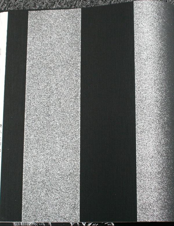 black and silver glitt...
