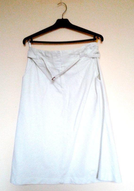 Vintage White Linen SkirtCotton SkirtWhite by VintageBrandNew