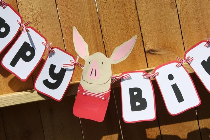 Printable birthday banners 3rd birthday parties ideas pigs birthday
