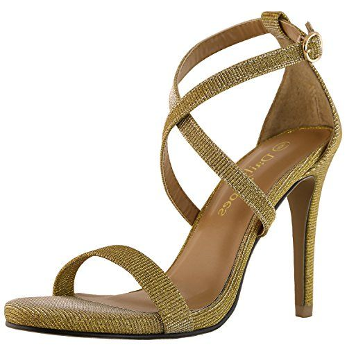 a09d4cc7512c DailyShoes Womens Platform High Heel Elegant Sandal Open Toe Ankle  Adjustable Buckle Cross Strap Pump Evening