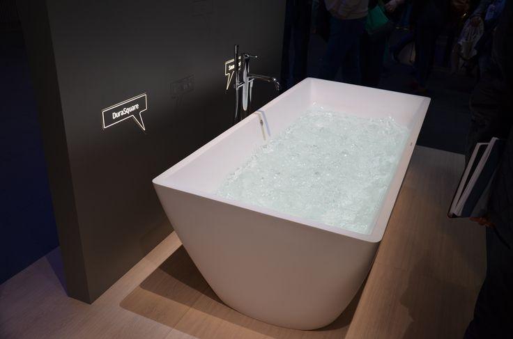 ISH 2017 Frankfurt. Новая отдельностоящая ванна Duravit Durasquare.