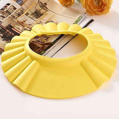 Baby Children Yellow Shampoo Bath Bathing Shower Cap Adjustable Hat Wash Hair.. USD 0.99