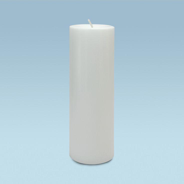 Chandelles rondes blanche longue durée 100% naturelle (130 heures)
