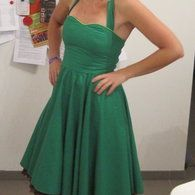 Swing dress , rockabilly style free pattern from burda