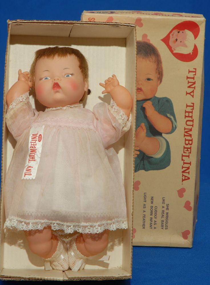 One of the many dolls my friend and I played with...so much fun! Tiny Thumbelina by Ideal