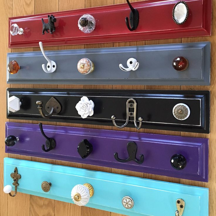 vibrant colored hook rack pick one
