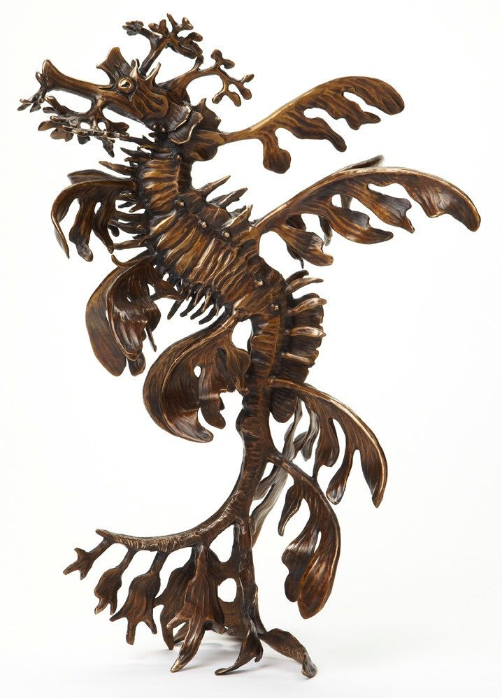 Excited to share the latest addition to my #etsy shop: Leafy sea dragon sculpture (vertical)