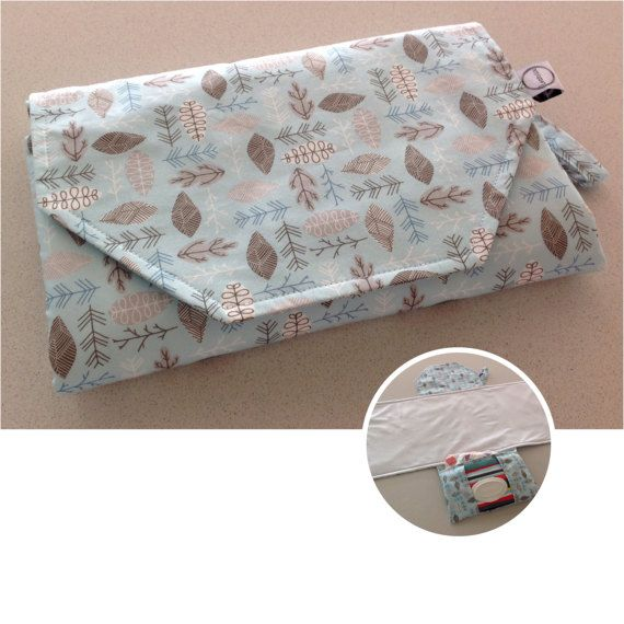 Nappy change mat clutch holds wipes and 3 to 4large nappies ON