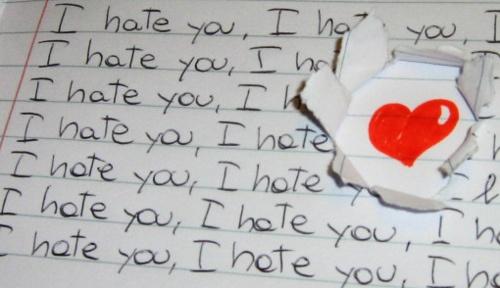 i hate you...?