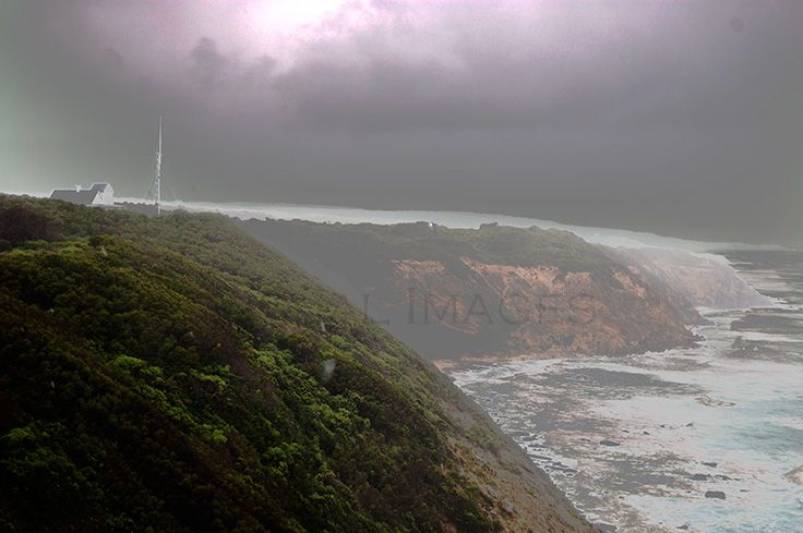Cape Otway Lighstation VIC. Wild weather was invigorating at the cliff tops. Follow our Australian road trip www.blog.v-i-o.com