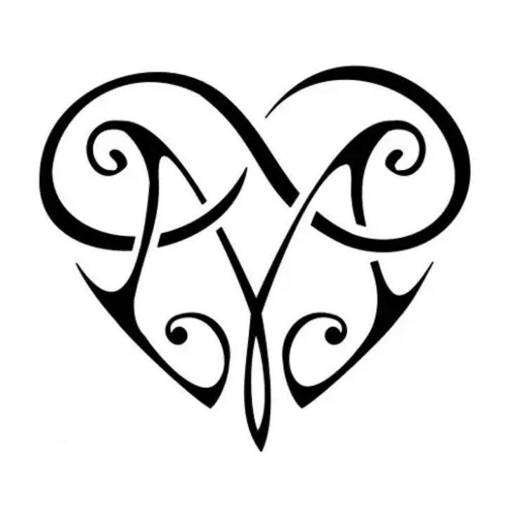tribal letter m