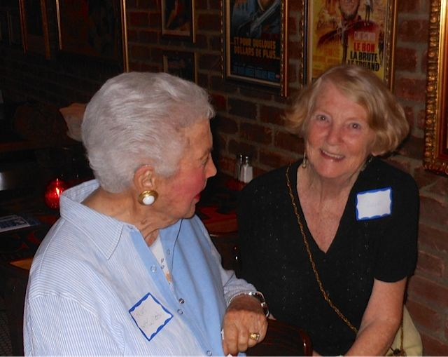 Nathalie McCulloch & Pat Landgois at the Sarsota Sister Cities Meet & Greet at Carigiuios on Palm Ave. in downtown Sarasota