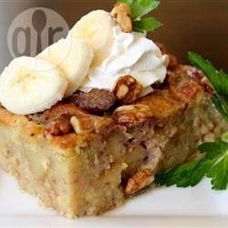 Broodpudding met banaan en walnoot recept - Recepten van Allrecipes