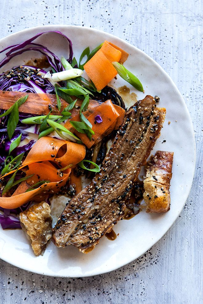 Sticky Asian pork belly.Love your pork belly but want to spice things up a touch? Try this Asian pork recipe with delicious slaw on the side. Did we mention it's banting friendly?