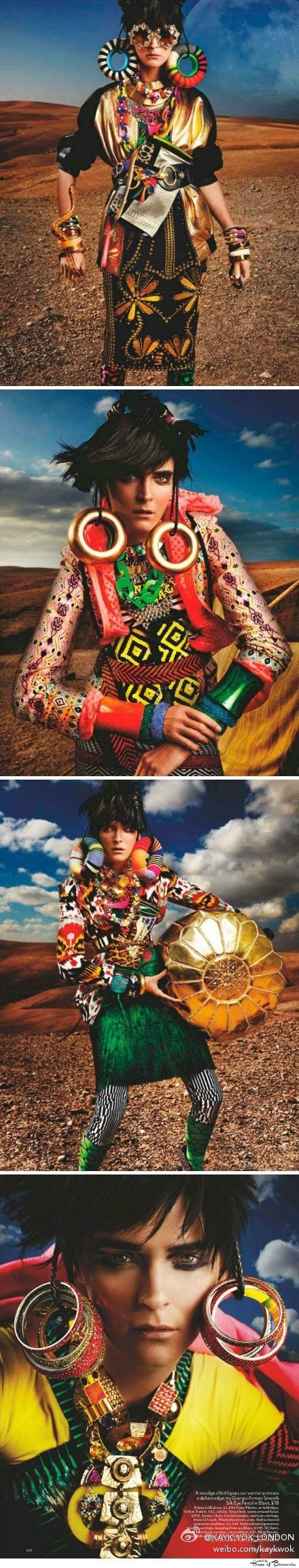 "~Vouge UK May 2012 ""High Plains Drifter"" - Model Carmen Kass - Photo by Mario Testino - Styled by Lucinda Chambe 