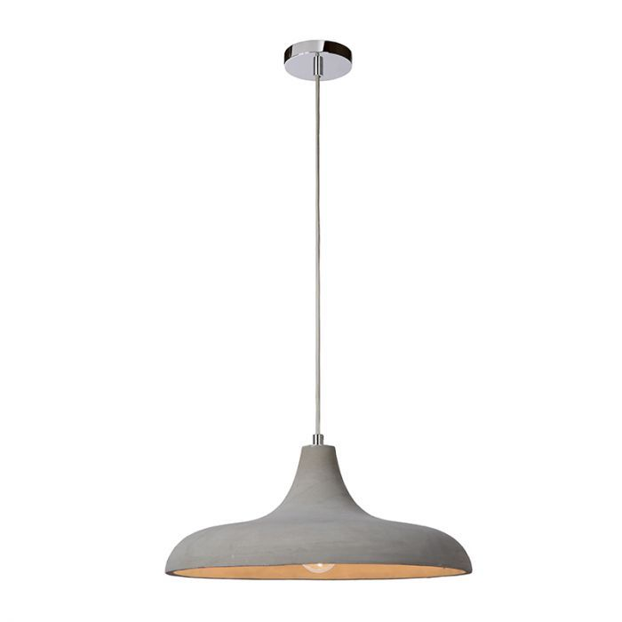 Ceiling Pendant With Concrete Shade In A Natural Concrete Finish1 Metre Taupe Cable And Pol In 2020 Ceiling Pendant Lights Ceiling Pendant Large Ceiling Pendant Lights