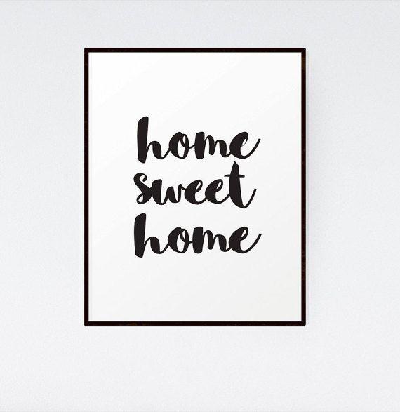 Home Sweet Home Printable Wall Art - Large print 50 x70 cm