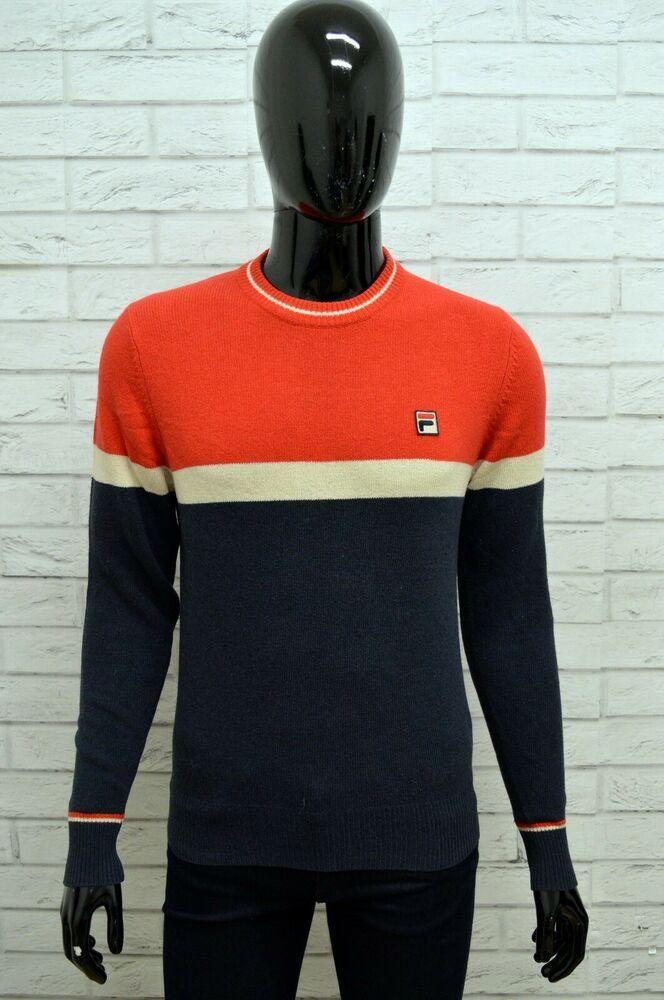 Maglione Uomo FILA Taglia S Maglia Felpa Pullover Sweater