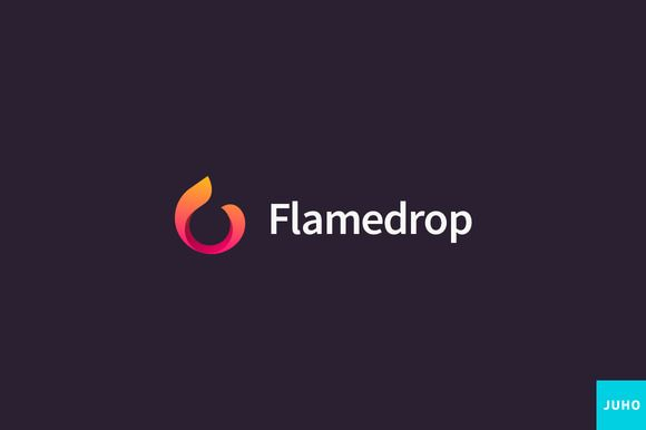 Flamedrop Logo Template by JuhoDesign on @creativemarket