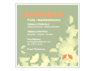 Briefing: targetó promocional per empresa de jardineria  Client: Pere Baguena jardiner
