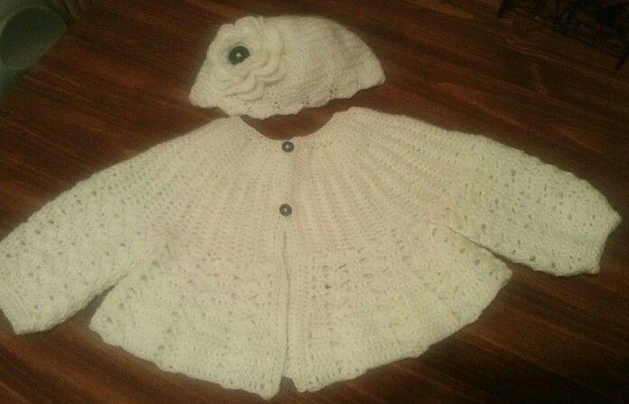 Abriguito 7 meses a ganchillo o crochet.