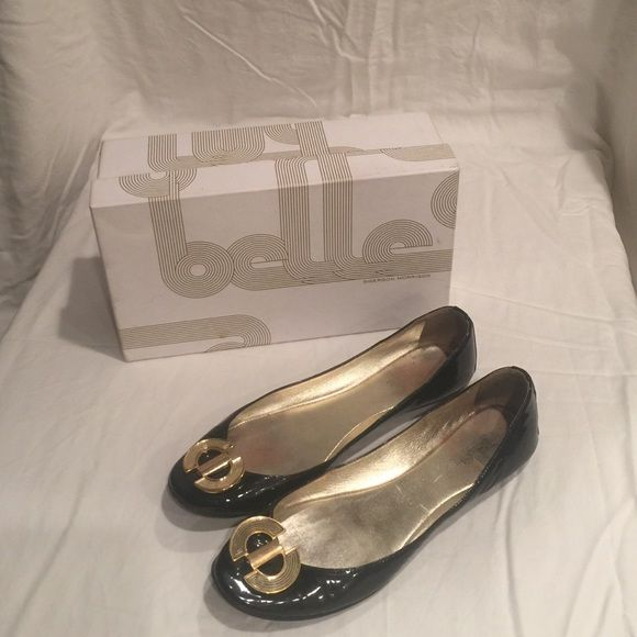 Sigerson Morrison Flats Black, patent leather with gold embellishment Sigerson Morrison Shoes Flats & Loafers