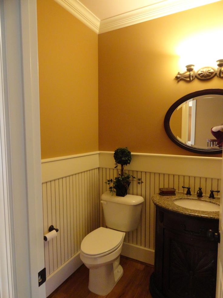 Entryway Powder room (Half Bath) - I'd like white bead ...