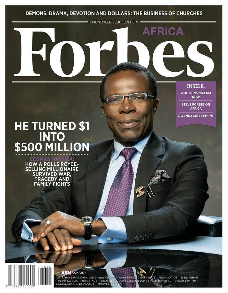 Cosmas Maduka Covers Forbes Magazine - Business - Nigeria