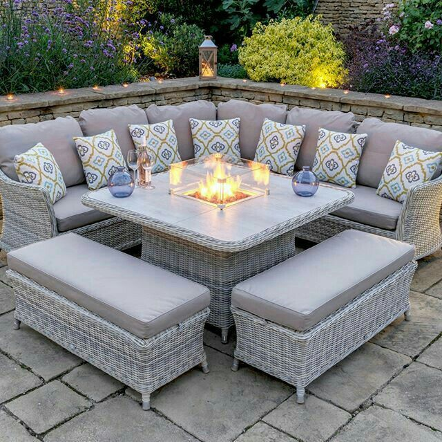 Pin By Ginger Thompson On Home Decor In 2020 Rattan Corner Sofa Backyard Furniture Garden Furniture Sets