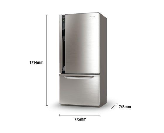 PANASONIC: Bottom Mount Refrigerator: NR-BY552XSAU