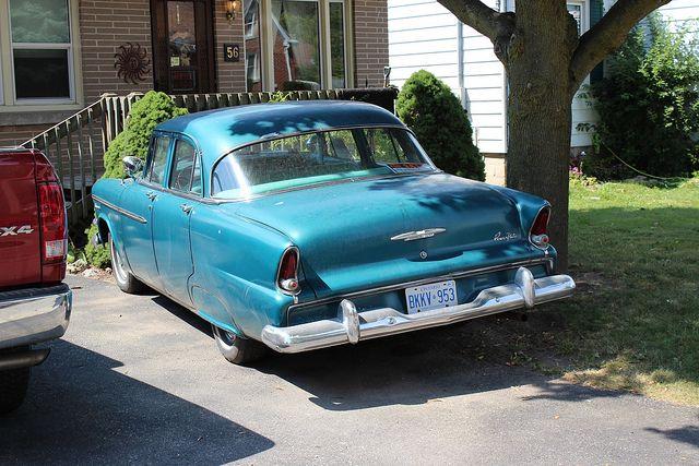 1955 Dodge Regent 4 door   Doug's first car.  Bought it in 1963, for $450.00. We called it Harry.