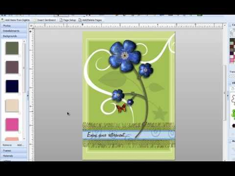 Digital Scrapbooking Tutorial - Using masks to create stencil effects - YouTube