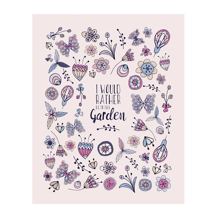 I Would Rather Be In The Garden