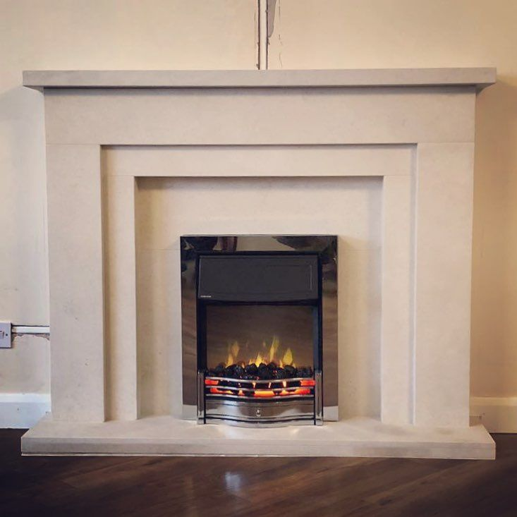 This Classic Mantels Newark Fireplace Setting With Dimplex Uk
