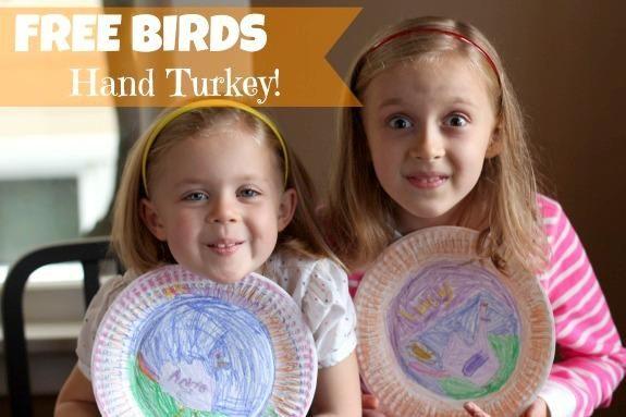 Make a Hand Turkey with Free Birds makeandtakes.com