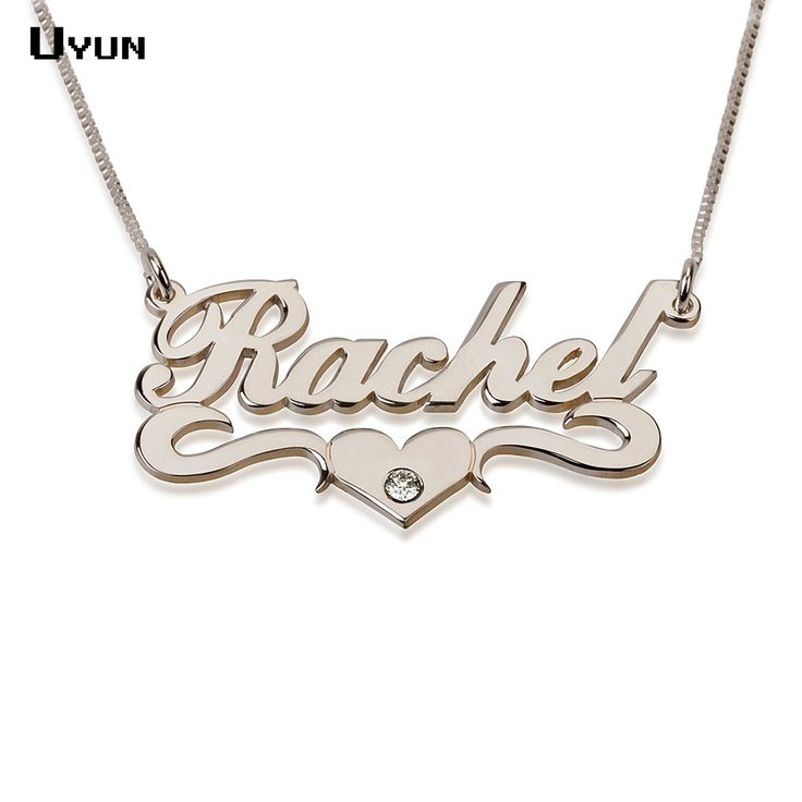 Custom Name Necklace  Carrie Style  with Heart Fashion Brithstone //Price: $20.99 & FREE Shipping //     #makeup #fashionable #model
