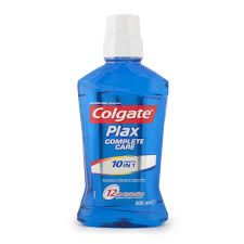 Colgate Plax Mouthwash CompleteCare 250. An advanced and complete care mouthwash, alcohol free, with 12 benefits in: Provides 12 hours antibacterial protection Kills germs by up to 99.9% Strengthens enamel Helps prevent cavities Cleans hard to reach places Freshens breath Keeps gums healthy Delivers a cleaner mouth Prevents plaque build up Reduces germs that cause gum problems Alcohol free No burning sensation