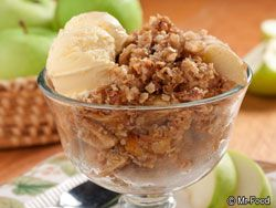Apple Crisp | Miss America 1999, Nicole Johnson, joined Mr. Food on his show to share this favorite apple recipe of hers that everybody will love, including people on diabetes diets.