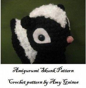 Etsy :: PDF- Amigurumi Skunk Pattern   Shop home  Kaboodle