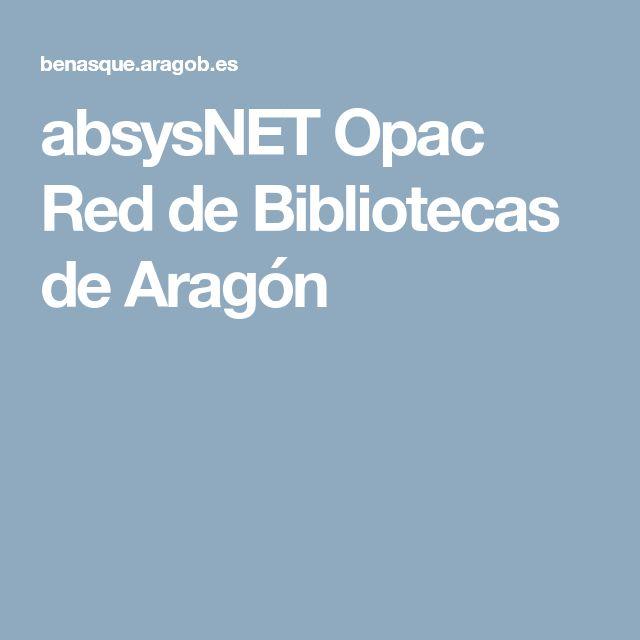 absysNET Opac Red de Bibliotecas de Aragón