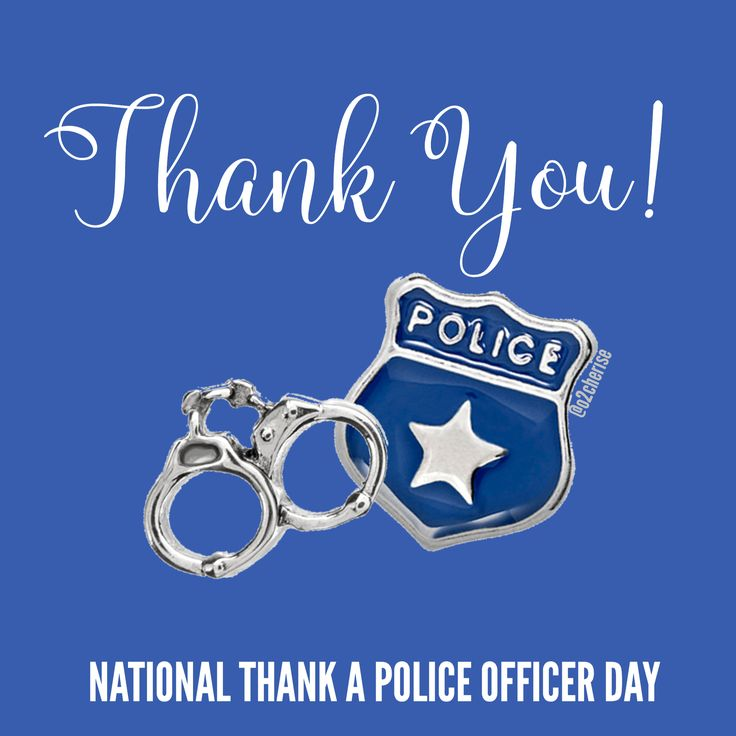 National Thank A Police Officer Day, Origami Owl graphic by Cherise Imbert