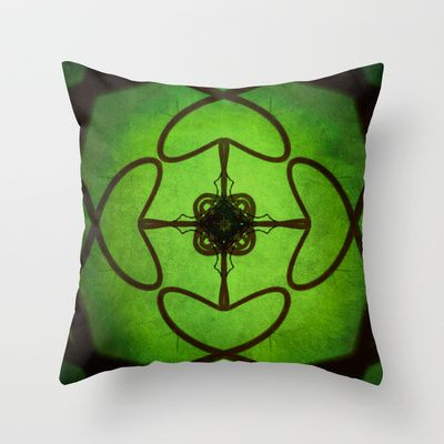 Green  Throw Pillow by SensualPatterns - $20.00