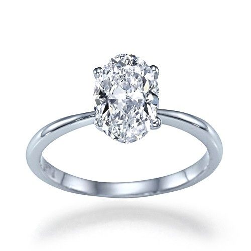 """""""Lioness"""" Classic 4 Prong Certified Oval Shaped Diamond"""