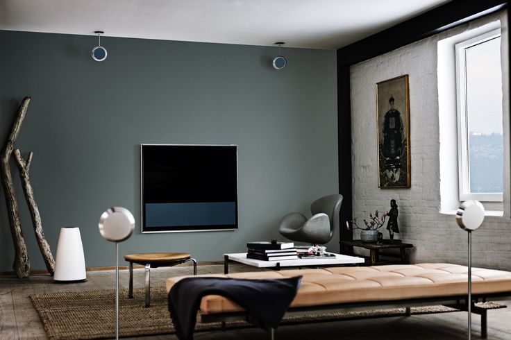 Classy & Modern Bang & Olufsen Living Room, with BeoVision 11 acting as a piece of furniture.