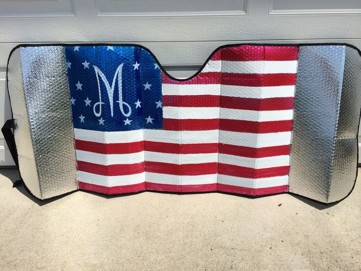 Now you can show your American pride 365 days a year with this patriotic sun shade!!!  Just send me your monogram!