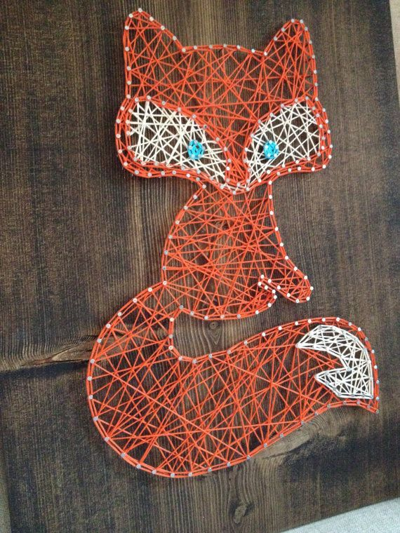 MADE TO ORDER String Art Fox Sign by TheHonakerHomeMaker on Etsy