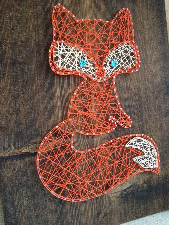 ZUR Bestellung String Art Fox Zeichen von TheHonakerHomeMaker