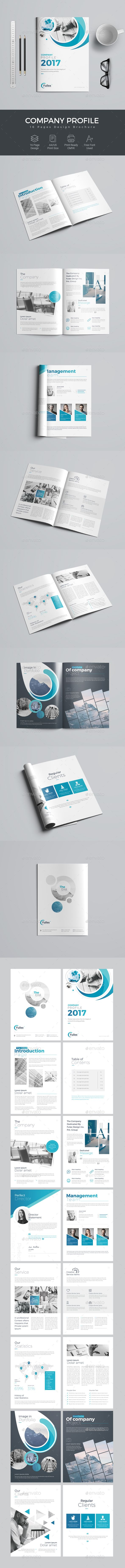 The Company Profile Brochure Template PSD
